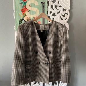 Vintage   houndstooth cropped blazer size 18